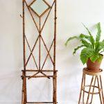 Vintage retro rotan bamboe kapstok jaren 60