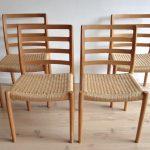 vintage retro eetkamerstoel stoel Deens Niels Otto Møller
