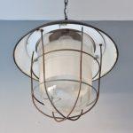 Industrial vintage lamp 1950s kooilamp