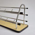 Vintage retro kapstok chroom geel skaileer