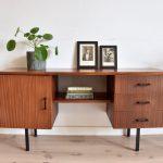 vintage dressoir teakhout mid-century design retro